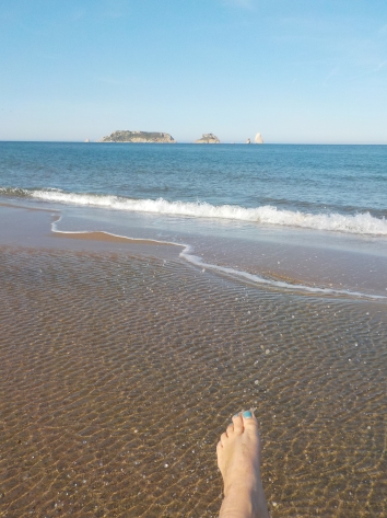 Toes in the cold water @ l'Estartit
